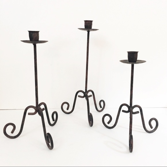 Other - Wrought Iron Candle Sticks